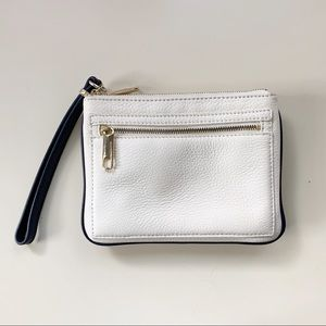 Talbots clutch, white NWT